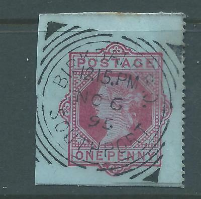 Queen Victoria One Penny Pre Paid Birkdale Southport Square Cancel 1895