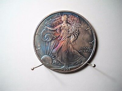 "1997 American Eagle 1 Oz. Silver Dollar Toned ""walking Liberty"""