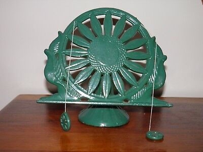 Vintage heavy cast iron, adjustable,green enamel, music/book/buble display stand