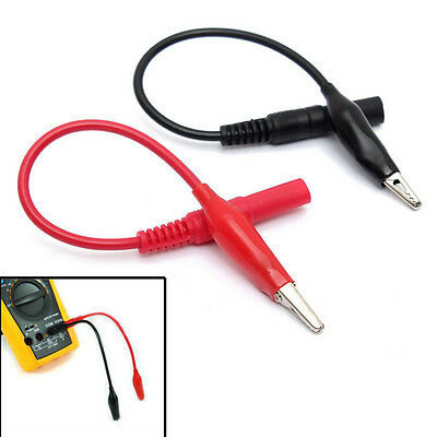1 Pair Multi Meter Test Lead & Alligator Crocodile Clip For Fluke Vichy meter FO