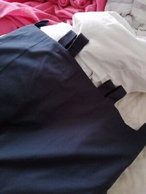 Huge wide long (gorgeous) blackout tab-top navy blue lined curtains 260 x 260cm