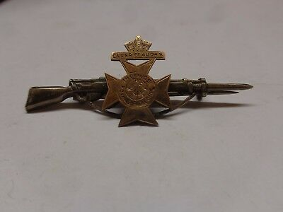 World War One The Kings Royal Rifle Corps Celer Et Audax Pin Badge Rifle Vgc
