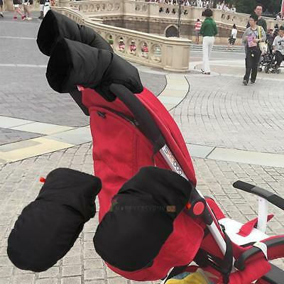Baby Pram Pushchair Stroller Buggy Winter Hand Fingerless Gloves Handle Muff US