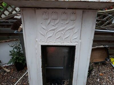 Victorian Arts And Crafts/art Nouveau Cast Iron Fireplace.tall And Very Heavy.