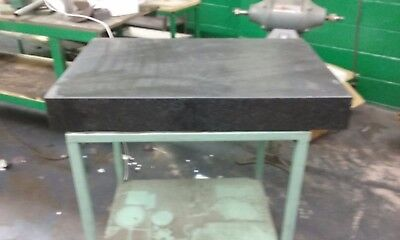 """Black Granite Surface Plate 36"""" X 24"""" X 5"""" on Table 38"""" tall"""