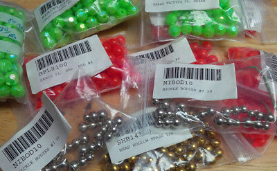 Assorted Spinner Beads and Bodies, Various Types and Sizes,