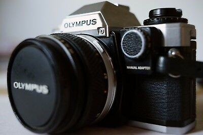 Olympus OM10 with Zuiko 50mm f1.8, Manual Adaptor and Case - Good Condition