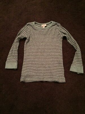 Noa Noa Miniature Grey With Purple Striped Top Age 4 Years