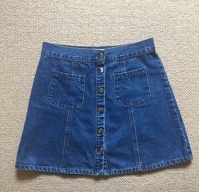 Urban Outfitters Cooperative Denim Button Mini Skirt