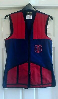 GANTON By LAURIE AMISTEAD - Mens Red and Blue Clay Shooting Vest - Size 40 M