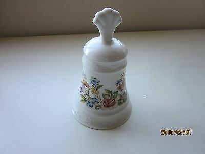 "Aynsley Bell made in England Danbury Mint 5.50""H White/Multi  Fine Bone China"