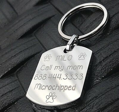 Collar Dog Tag Id . Accessories For Pet . Pet ID . Gift For Dog . Microchipped