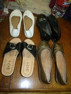 Lot of 4 pr womens  shoes- Size 8/8.5 Life Stride, White Mtn, SO, Eve