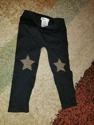 Epic Threads Footless Tights Black & Gold Girls Kids Pants 2T