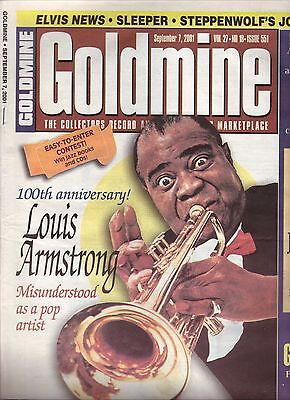 Louis Armstrong--2001 Goldmine Magazine