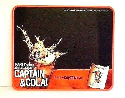 Metal Bar Sign Captain Morgan Original Spiced Rum Embossed Tin Captain and Cola