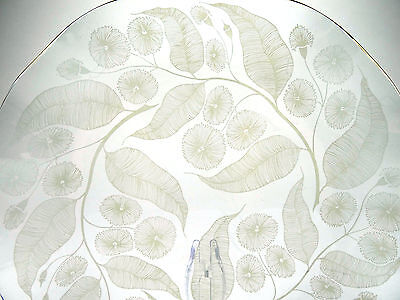 Fiesta glass plate, Chance Brothers, 1950s Calypto, Micahel Harris, leaves, leaf