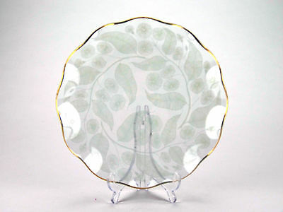 Chance Brothers 1950s 'Calypto' pattern glass plate designed by Michael Harris