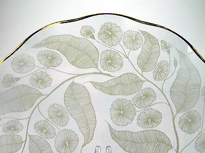 1950s Chance Brothers 'Calypto' pattern glass plate designed by Michael Harris
