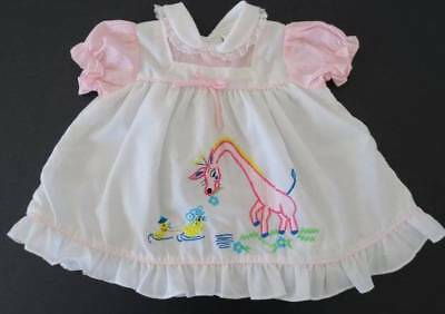 Vintage Baby Girl Dress - Size to suit Birth to 3 Months