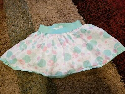 Barbie Size 5T Skirt w/ Built in shorts Mint Green, Pink, Lavender White Circles