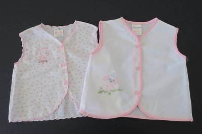 Vintage Lyn Maid International Baby Girl Sleeveless Top Bed Jacket - Size 00