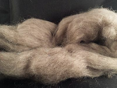 CRAZY Yak Combed Top Roving 100% Lt Brown 17 micron ultra-soft spin 28 gr fiber