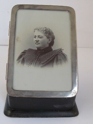 Antique Manicure Case with Photo and Sterling Contents Unusual