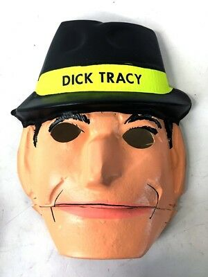 Vintage | Ben Cooper Dick Tracey Chattermouth Halloween Costume Mask