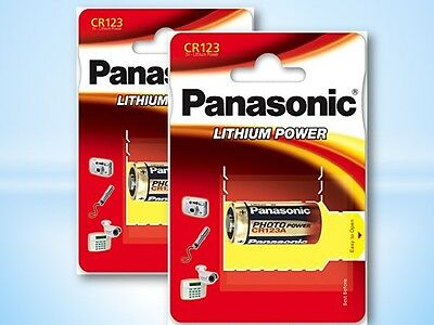 10 x Panasonic CR123A DL123A 3V Lithium Power Photo Batteries Blister New &