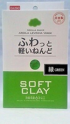 DAISO JAPAN DIY Soft Clay GREEN Made in   JAPAN  F/Shipping