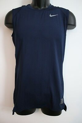 NIKE Pro Dri-Fit Mens Blue Hypercool Sleeveless Compression Shirt LARGE