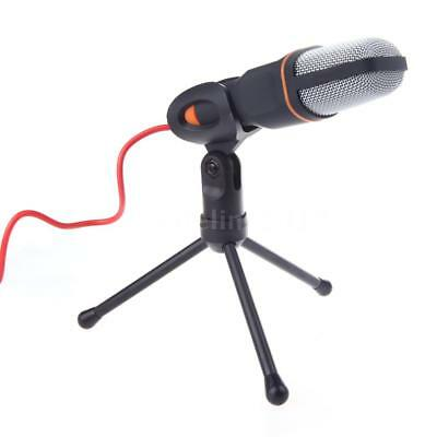 Pro Condenser Sound Podcast Studio Microphone For PC Laptop Skype MSN Black C6M1