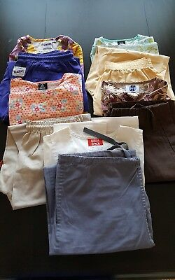 Womans Lot Of Scrub Sets, 5 Tops, 5 Pants, Very Nice   Size M
