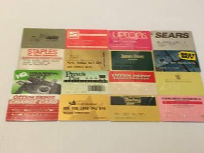Lot of 16 Vintage Retail Store Cards Credit Charge Card R2