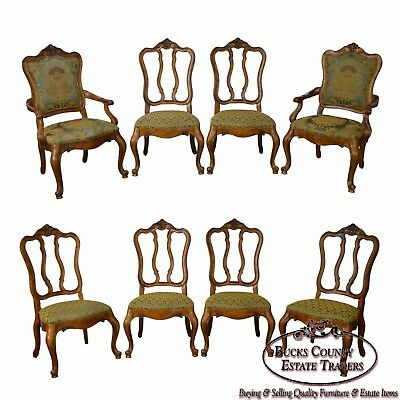 Ethan Allen Tuscany Collection Set of 8 French Louis XVI Style Dining Chairs