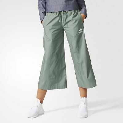 424f5e7f3c4 ADIDAS WIDE LEG Relaxed Hip Athletic Capri Pants Women's L - $17.99 ...