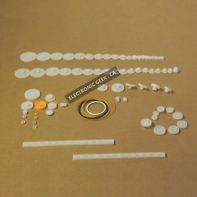 75PCS a lot,Plastic gear,rack, pulley, belt,Worm gear,Single-and double-gear,8-5