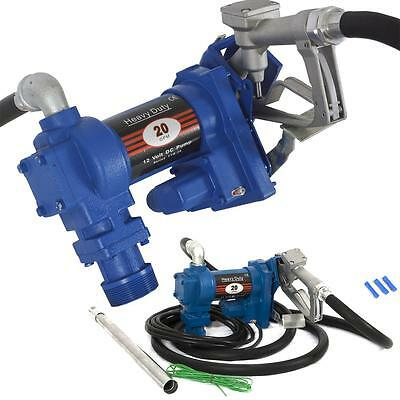 Gasoline Fuel Transfer Pump 12 Volt DC 20GPM Gas Diesel Kerosene Nozzle Kit Car