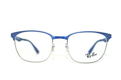 8d242df4516 New Authentic Ray-Ban Rb 6356 2876 Blue Silver Frames Eyeglasses 50Mm Rb6356