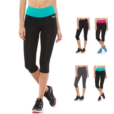 New FILA SPORT Women's Yoga Workout Gym Fitness High Waist Capri Leggings $40