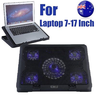 For Laptop Notebook Cooler Cooling Stand USB Fan Pad with USB Hub 5 FANS