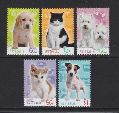 Australia 2004 : Cats & Dogs - Stamp Collecting Month, Design Set MNH