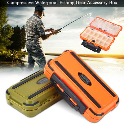 24 Compartments Waterproof Fly Fishing Lures Box Portable Tackle Storage Case