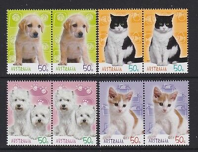 Australia 2004 : Cats & Dogs - Stamp Collecting Month, 8 x 50c Decimal Stamps