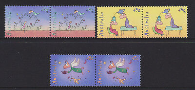 Australia 1998 : Leung's Teapot of Truth, 45c Stamps X 3 Joined pairs. MNH