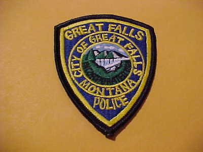 Great Falls Montana Police Patch Cap Size New 3 X 2 3/4 Inch