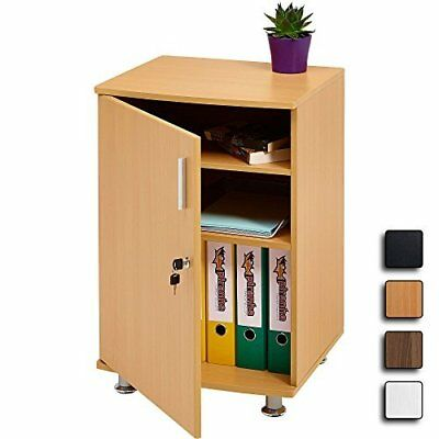 Desktop Extension Cabinet Storage Home Office Shelves A4 Filing Lockable Beech