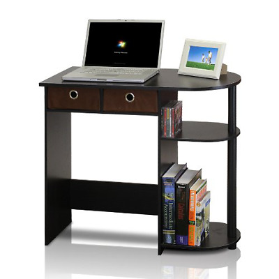 Small Computer Desk Laptop Compact Bedroom Home Office Furniture Drawer Storage