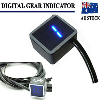 Universal LED Digital Gear Indicator Motorcycle Display Shift Lever Sensor AU
